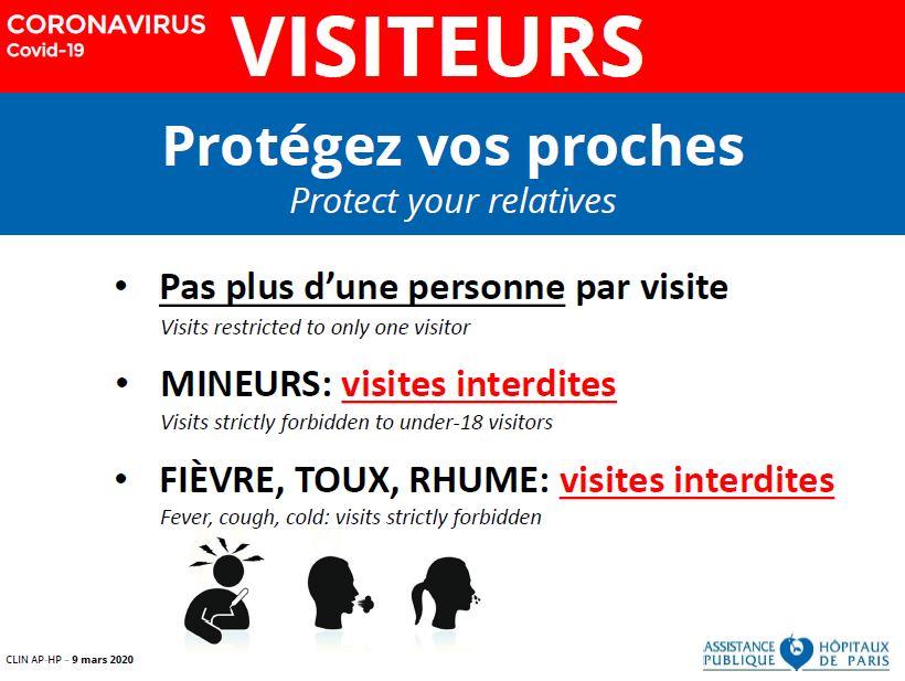 Affiche hôpitaux Coronavirus