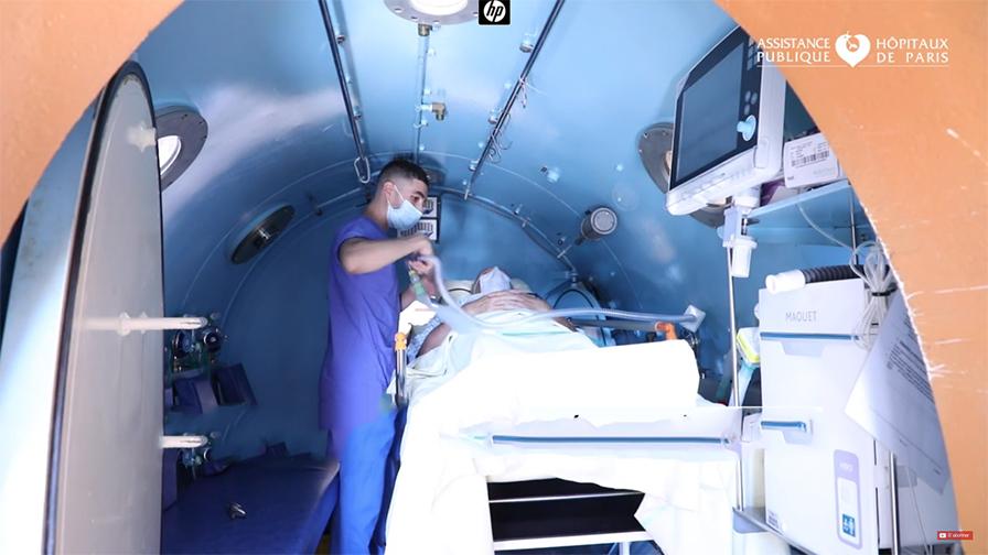 Caisson hyperbare - Hôpital Raymond-Poincaré AP-HP