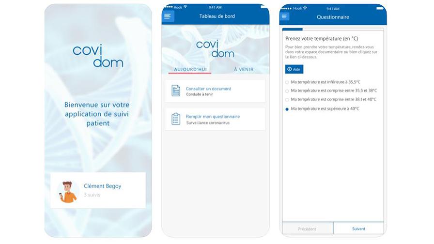 Application Covidom : Suivi à domicile des patients COVID-19
