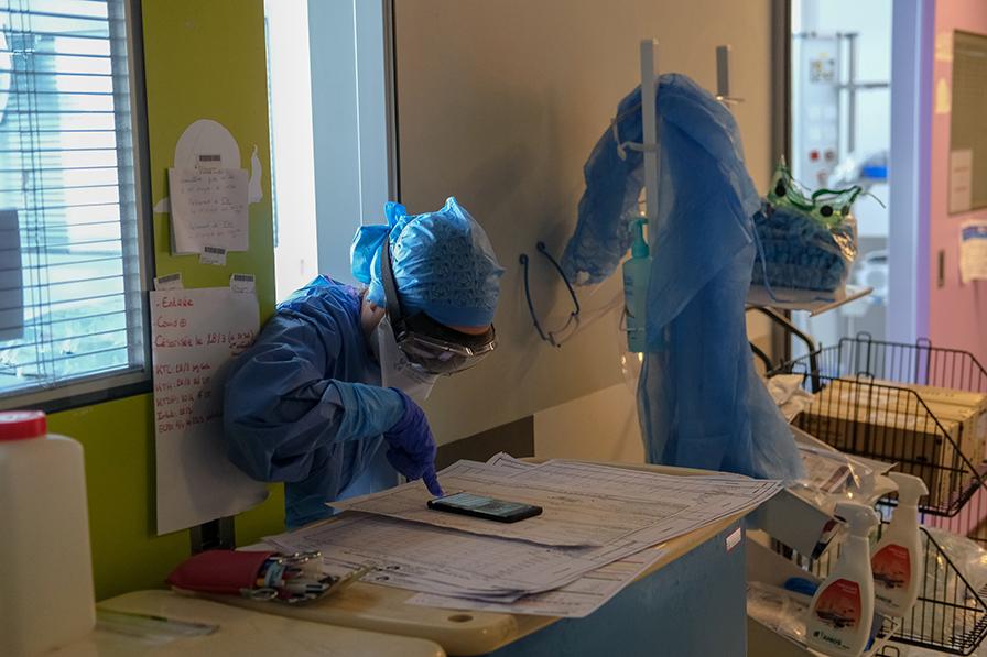 Sur le front du COVID-19 à l'hôpital Necker - enfants malades AP-HP