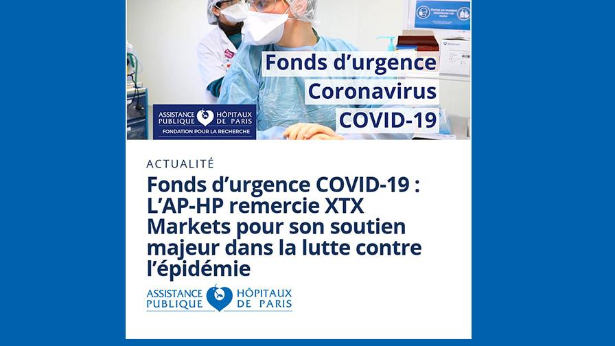 Covid 19 : fond 'urgence - XTX