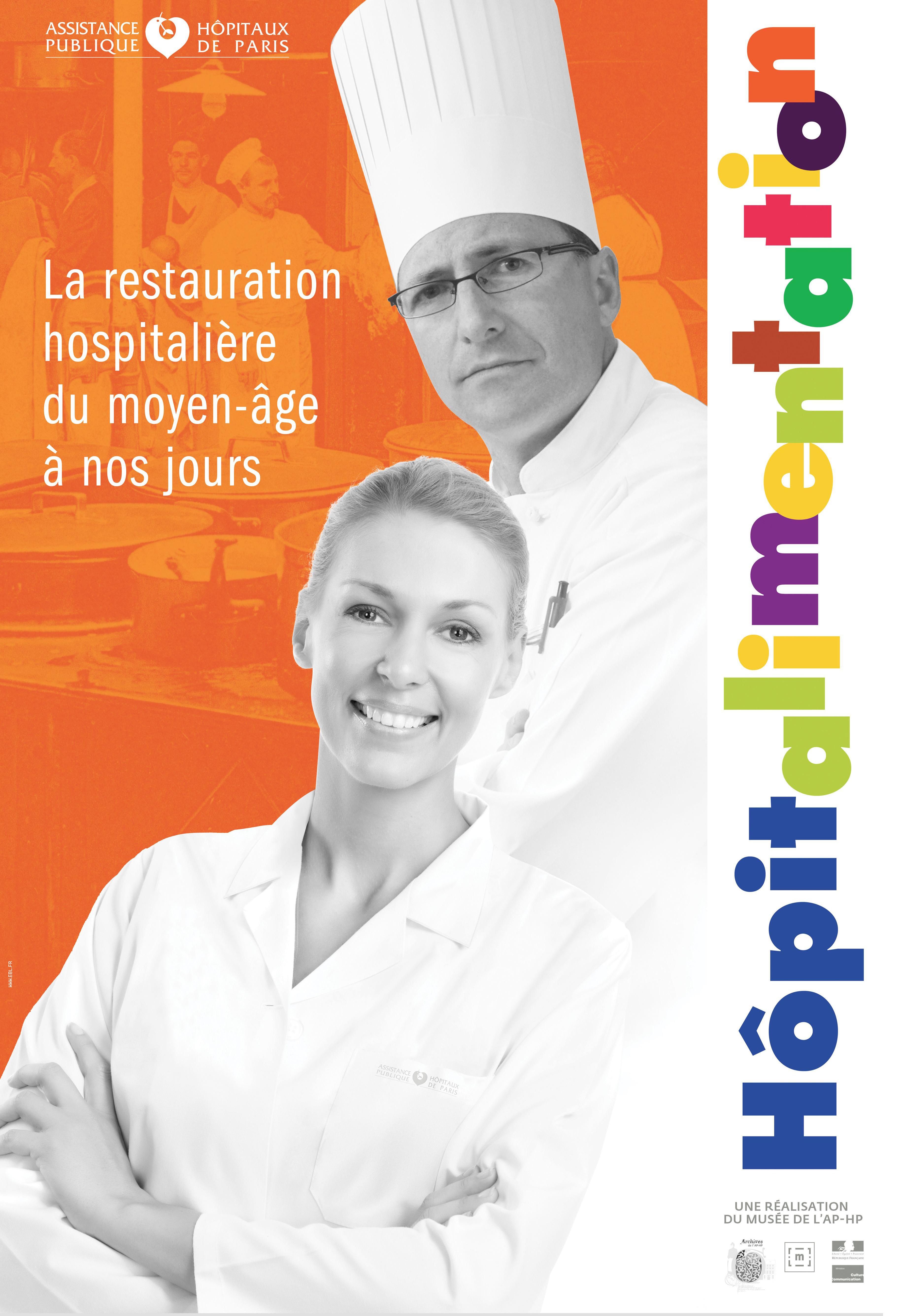 Affiche - Expo - Hopitalimentation, histoire de l'alimentation à l'hôpital - Musée APHP