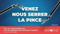 Du 2 au 13 décembre, l'AP-HP présente ses nouveaux robots !