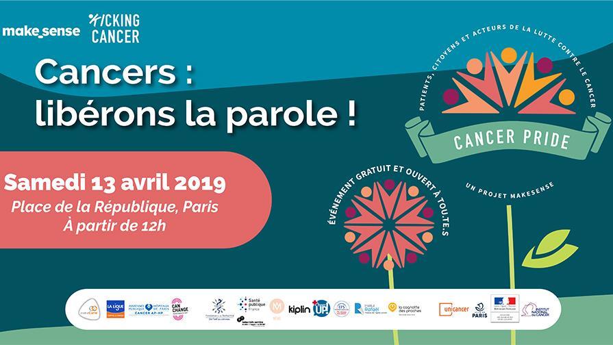 Invitation Cancer Pride 13 avril 2019
