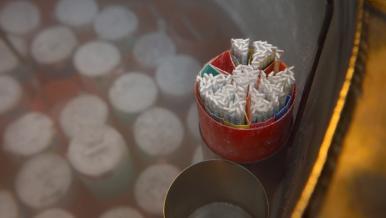 Les paillettes sont conservées dans une cuve