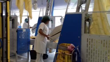 Nouvel atelier de finition du linge plat, service central des blanchisseries - 3M€