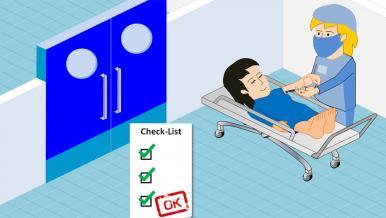 Préparation à l'opération, réalisation des anesthésies locaux régionales