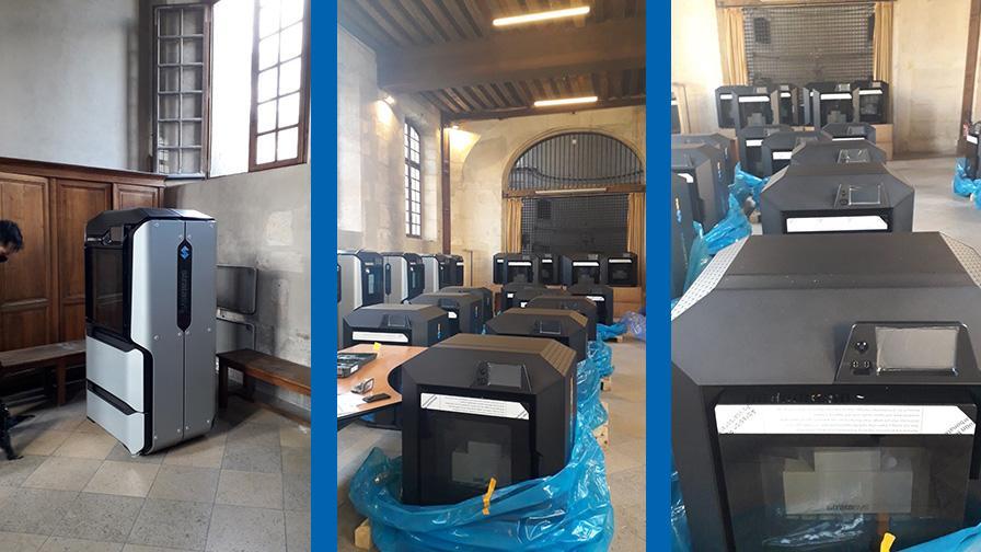 Covid-19: impresoras 3D en el hospital Cochin