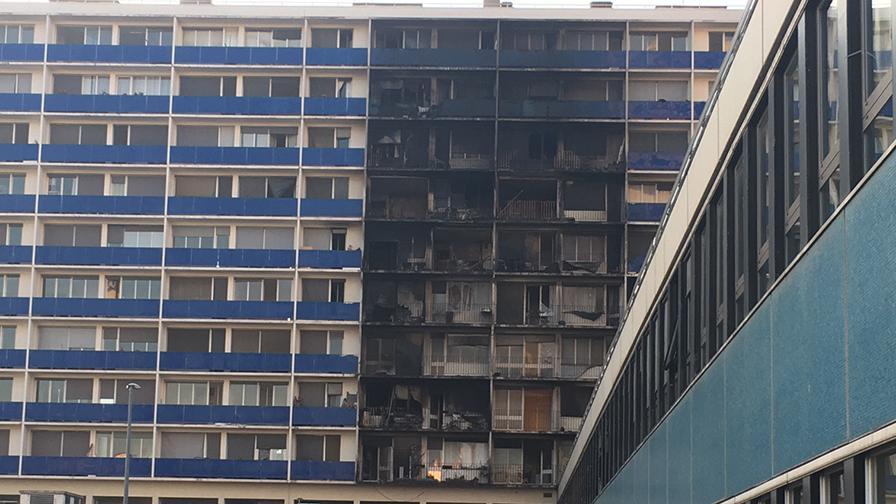 Incendie dans un immeuble de logements et bureaux à l'hôpital Henri-Mondor AP-HP