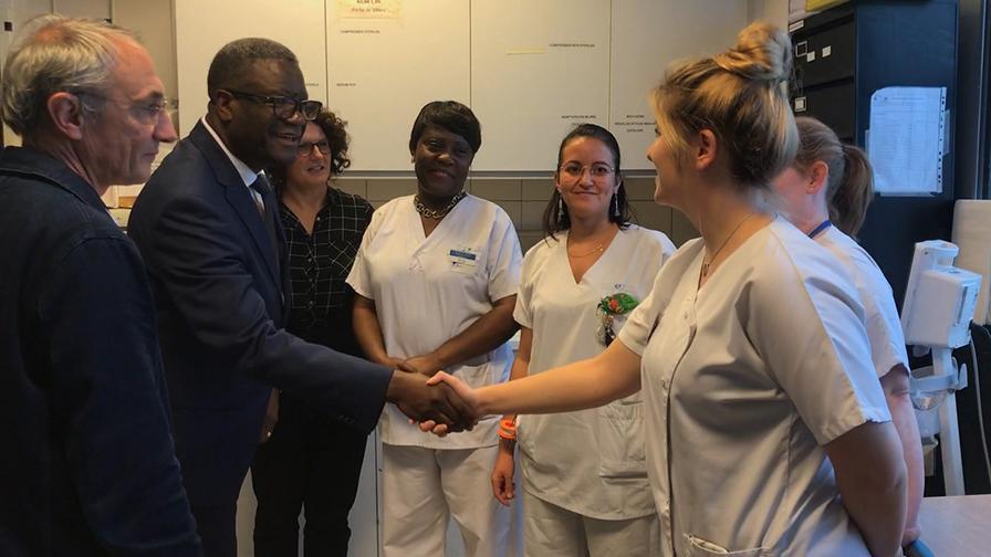 L'hôpital Avicenne AP-HP a accueilli le Dr Denis Mukwege, prix Nobel de la paix 2018