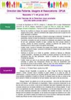 Newsletter de la DPUA, n°4, janvier 2015