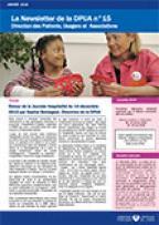 Newsletter de la Direction des Patients, Usagers et Associations, n°15, janvier 2016