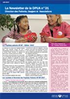 Newsletter de la Direction des Patients, Usagers et Associations, n°31 juin 2017