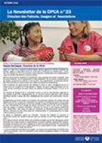 Newsletter de la Direction des Patients, Usagers et Associations, n°23, octobre 2016