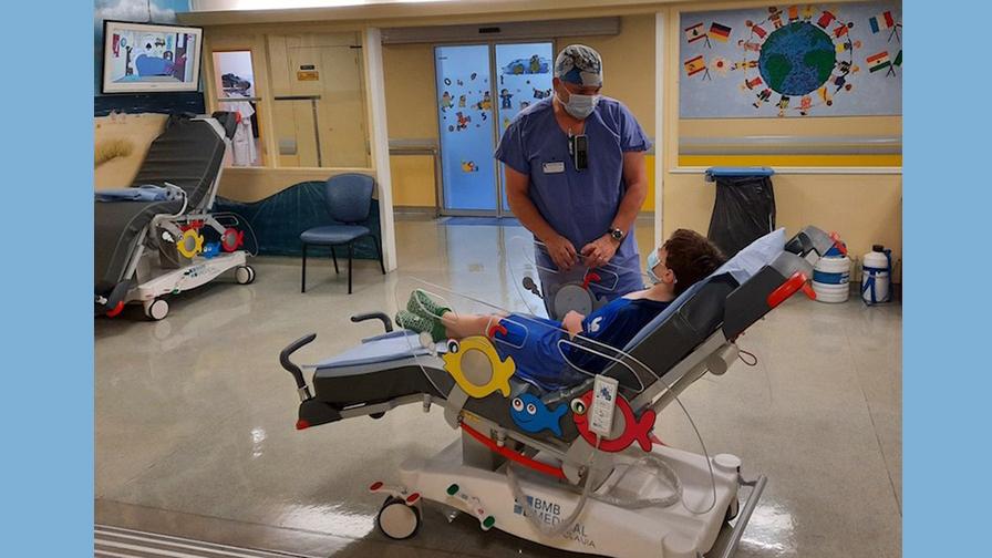 Unité d'accueil pré-opératoire (UAPO) en pédiatrie à l'hôpital universitaire Robert-Debré AP-HP