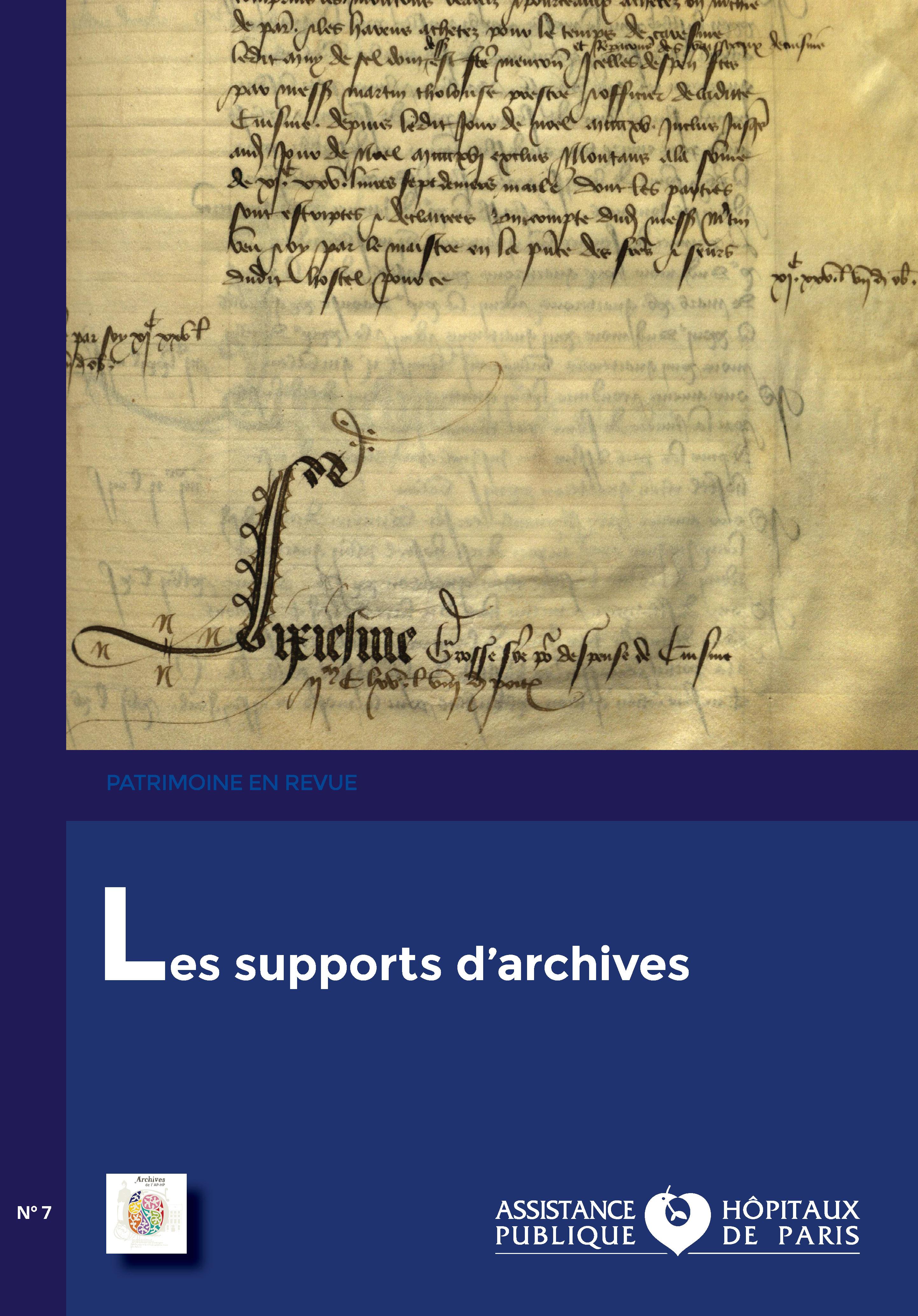Patrimoine en revue n° 7, les supports d'archives