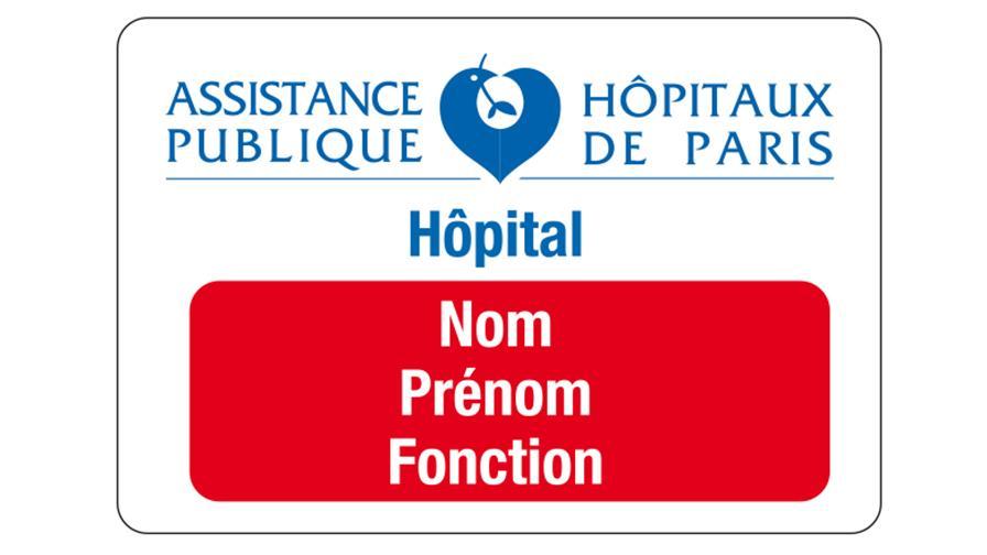 Badge rouge : médecins, personnel médical