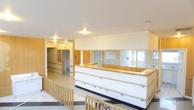 Un accueil de service, hôpital Necker