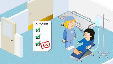 Préparation et soins infirmiers : visite pré-opératoire et chirurgicale