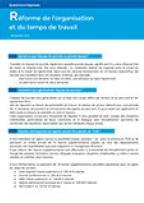 Questions/réponses : réforme de l'organisation et du temps de travail